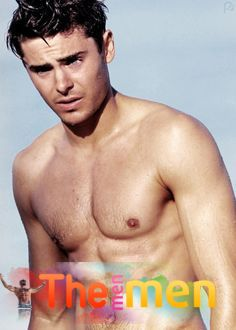 Zac Efron showing muscles